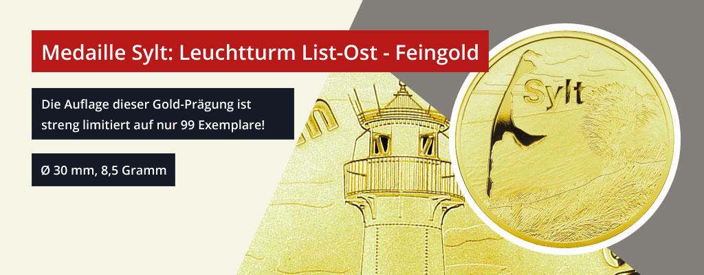 Sylt Medaille Feingold