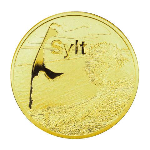 Medaille Sylt: Leuchtturm List-Ost - Feingold