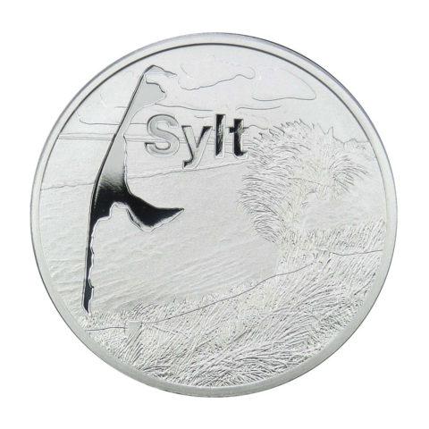 Medaille Sylt: Leuchtturm List-Ost - Feinsilber
